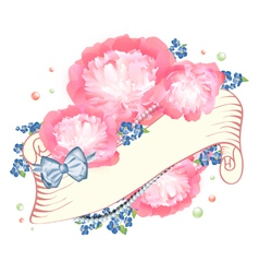 Peony Flower Design vector image vector image
