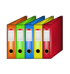 Row of office folders vector