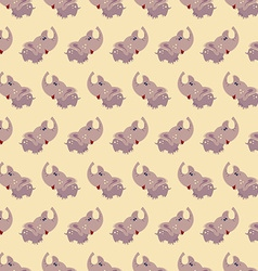 Seamless elephant baby pattern background vector image