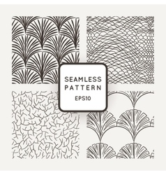 Set of seamless patterns a hand scales vector image vector image