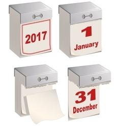 Set of tear off calendar 2017 vector image vector image