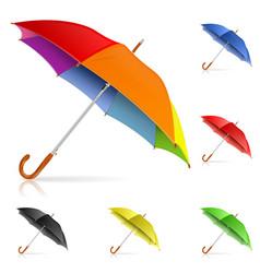 Set Umbrellas vector image vector image