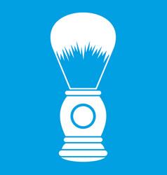 shaving brush icon white vector image