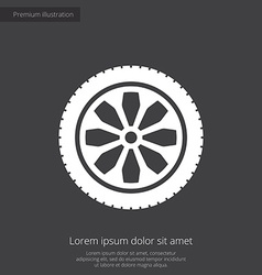 car wheel premium icon vector image