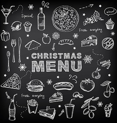 Christmas restaurant and party menu invitation vector image vector image