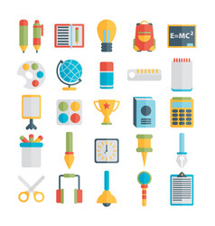 flat style education and e-learning vector image vector image