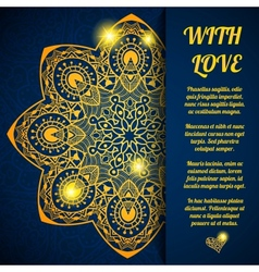 greeting ornate background vector image