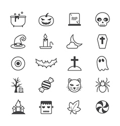 Halloween Party Icons Line vector image