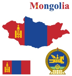Mongolian Flag vector image vector image