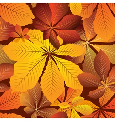 Seamless autumn leaves vector image vector image