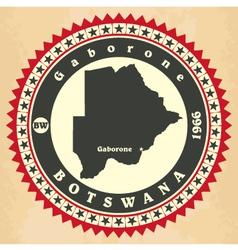 Vintage label-sticker cards of Botswana vector image vector image