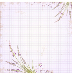 Vintage Notepad Notebook vector image vector image