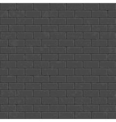 Dark seamless brick wall vector image vector image