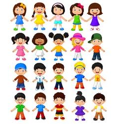 Happy children collection set vector image vector image
