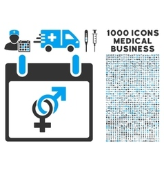 Marriage Calendar Day Icon With 1000 Medical vector image vector image