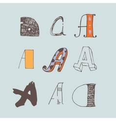 Set of colorful alphabet letters a vector