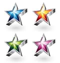 shiny stars vector image