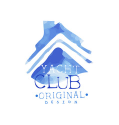 abstract emblem for yacht club sea or ocean theme vector image