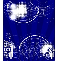 abstract grungy blue background vector image vector image
