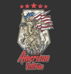 american veteran vector image