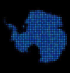 antarctica map mosaic dots vector image