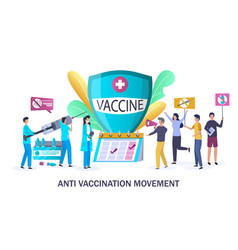 anti vaccination movement concept for web vector image