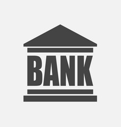 bank building icon in flat style on white vector image