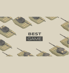 best game flat banner template military vector image