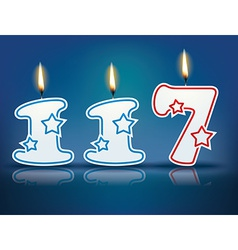 Birthday candle number 117 vector