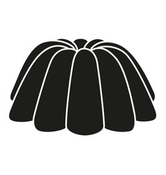 black and white jelly pudding silhouette vector image
