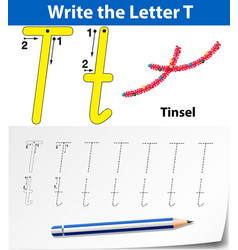 Bm rslettersfix 275letter t tracing alphabet vector
