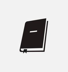 Book bookmark icon vector