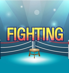 Boxer Stage Background Fight Text vector