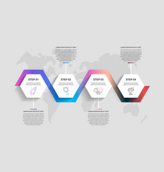 Business infographics timeline modern with vector