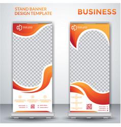 Business roll up banner design vector