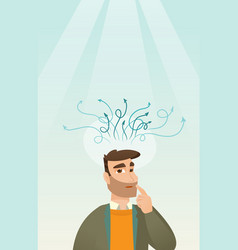 Businessman having business idea vector