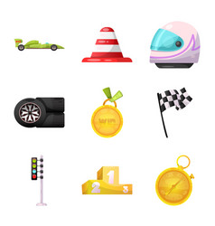 car and rally symbol vector image
