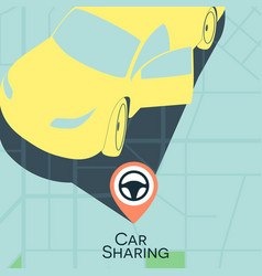 Car sharing service concept carsharing rental car vector