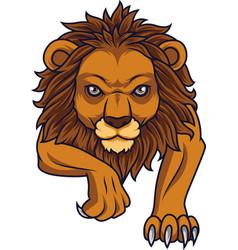 cartoon lion attacking vector image