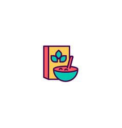 cereals icon design gastronomy icon design vector image