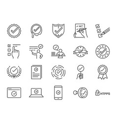 check mark icon set vector image