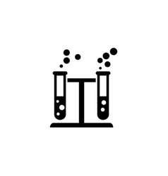 Chemical reaction flat icon vector
