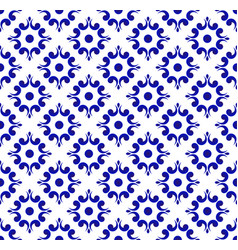 china blue and white pattern vector image