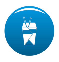 Chinese fast food icon blue vector