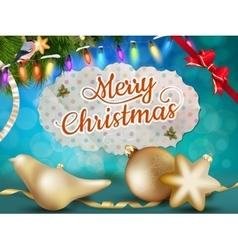 Christmas balls EPS 10 vector image