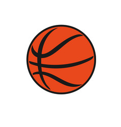 classic basketball vector image