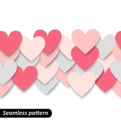 Colorful hearts seamless border vector image
