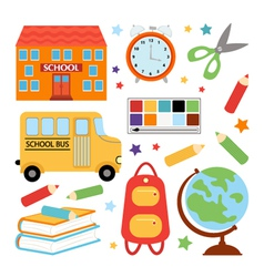 Colorful school set vector image
