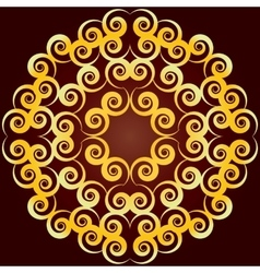 contour mandala vector image