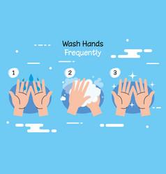 Coronavirus 2019 ncov infographic with wash hands vector